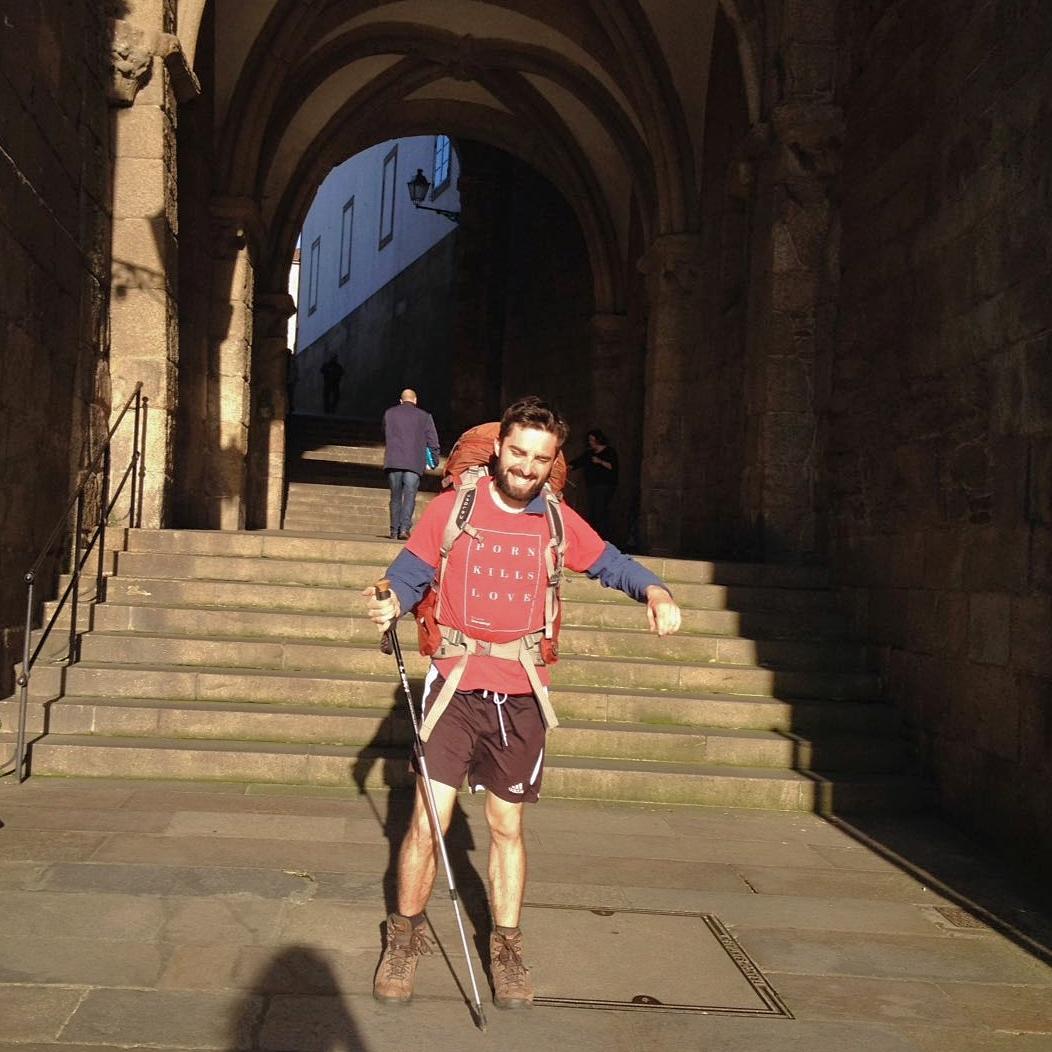 Daniel on Camino de Santiago de Compostela 1