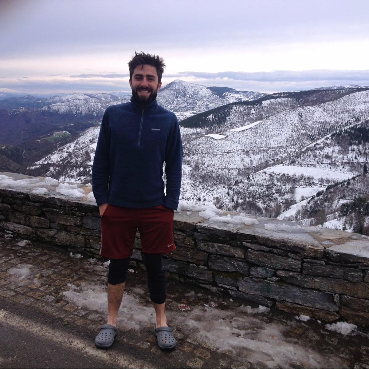 Daniel on Camino de Santiago de Compostela 2