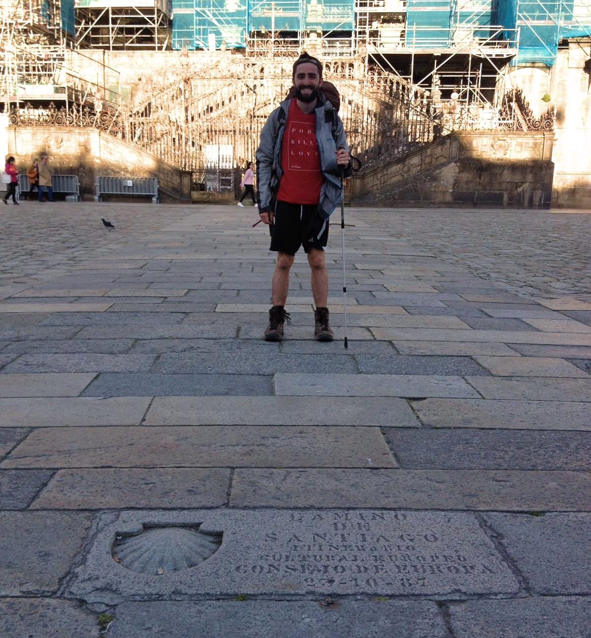 Daniel on Camino de Santiago de Compostela 3