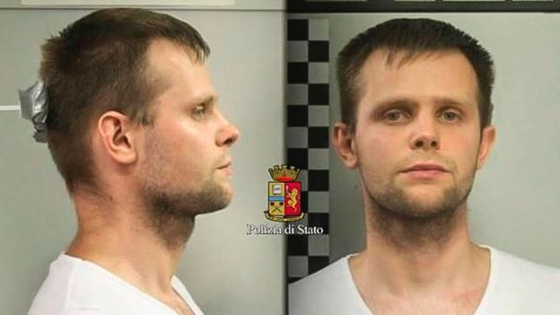 Image of Lukasz Herba released by Italian police.