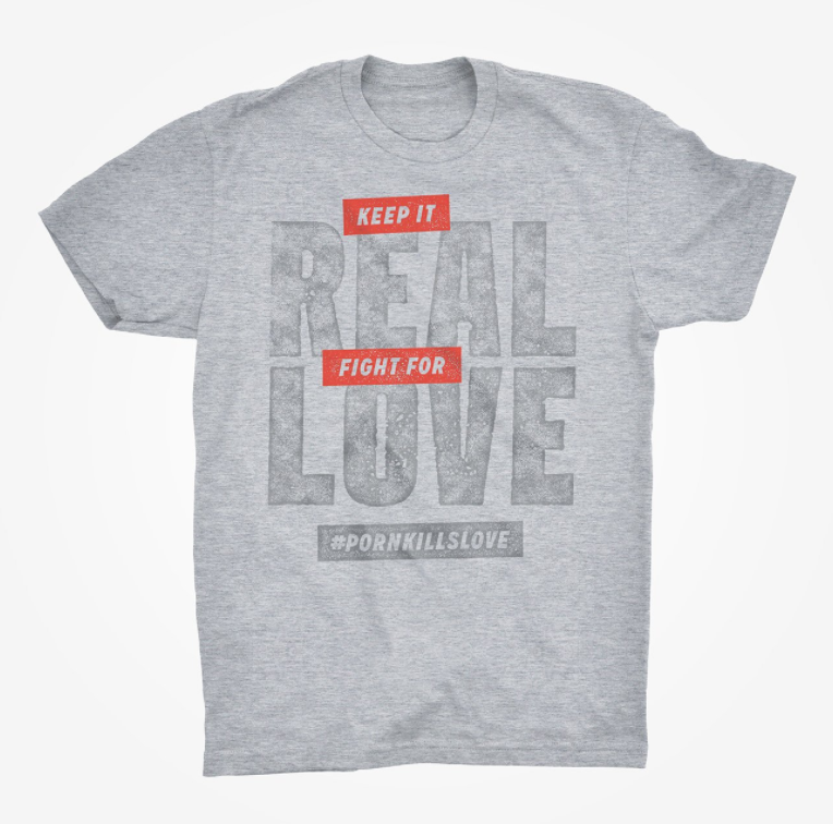 Store tee promo Keep It Real Fight For Love