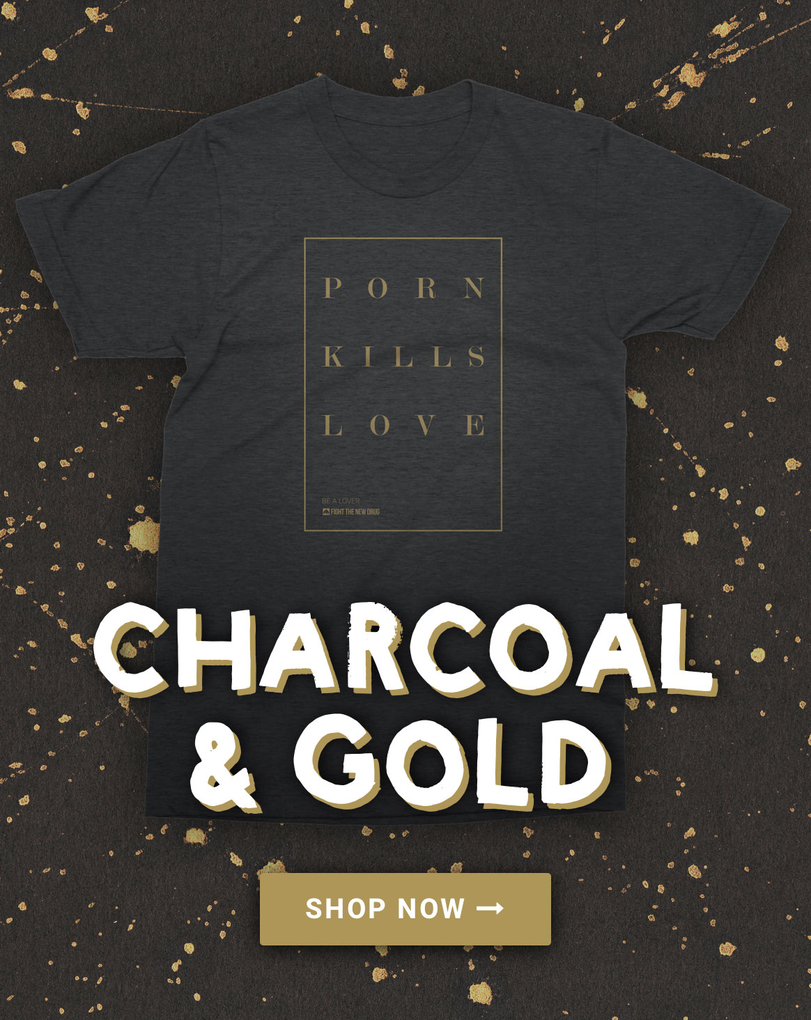 Charcoal & Gold PKL Tee