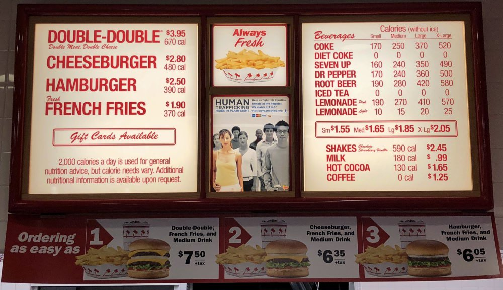 In-N-Out Burger Matches Donations 3-to-1 to Fight Human Trafficking