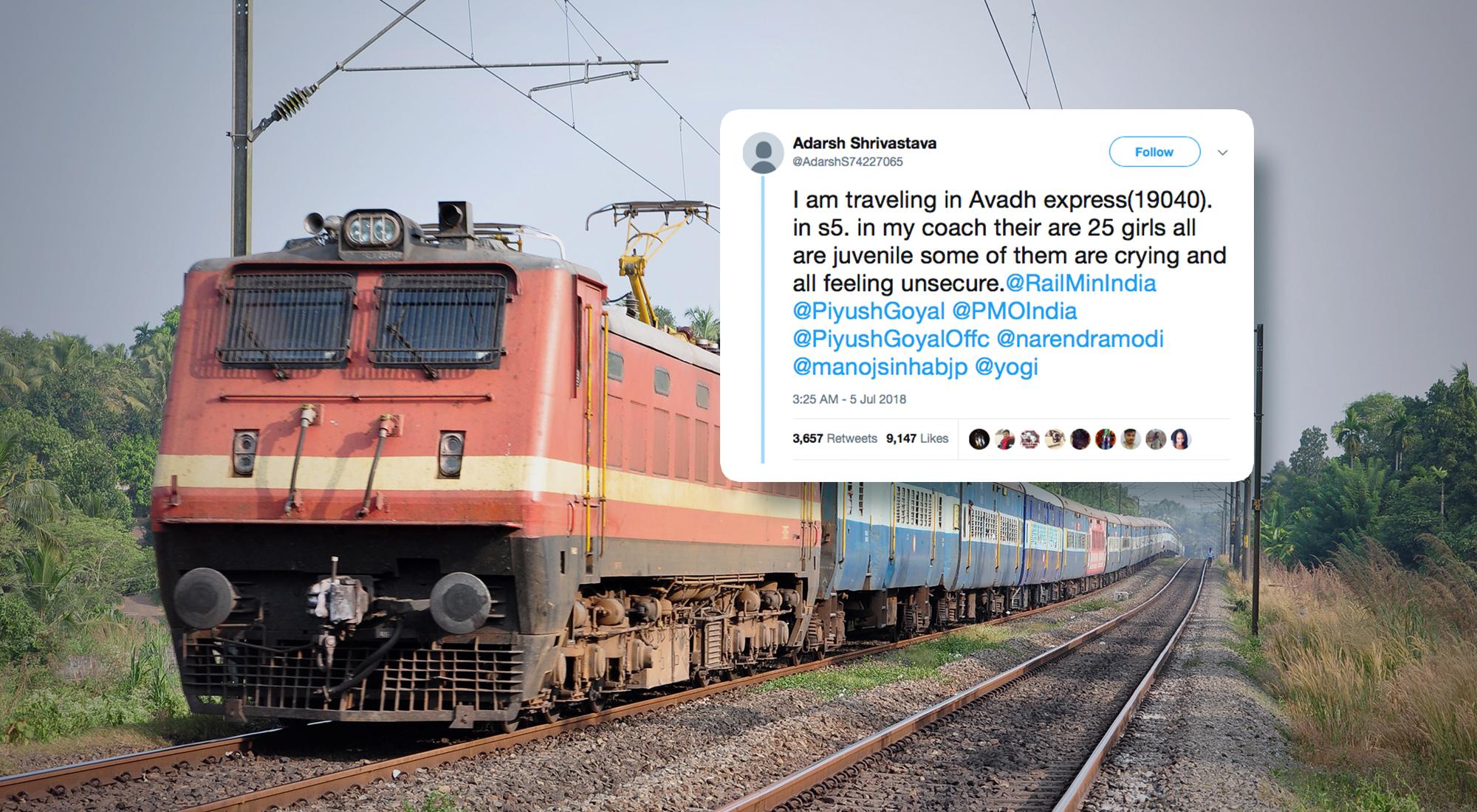This Train Passenger's Tweet Saved 25 Girls from Human Trafficking